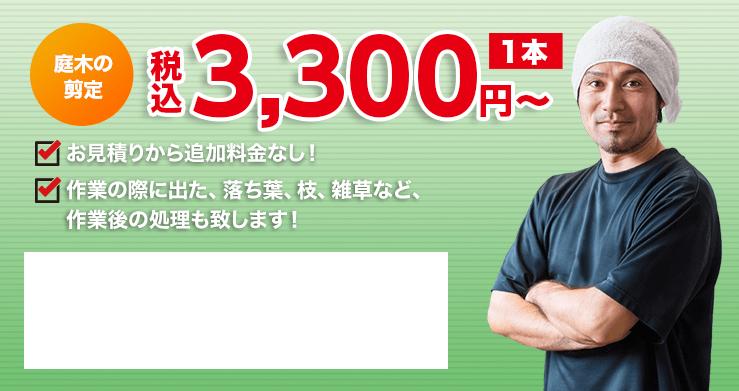 安心の明朗会計1本1,000円~、お見積りから追加料金なし!作業の際に出た、落ち葉、枝、雑草など、作業後の処理も致します!