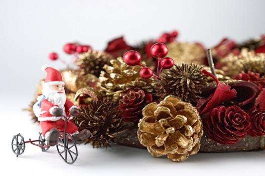 【活用法1】クリスマスのリースの飾りに利用する